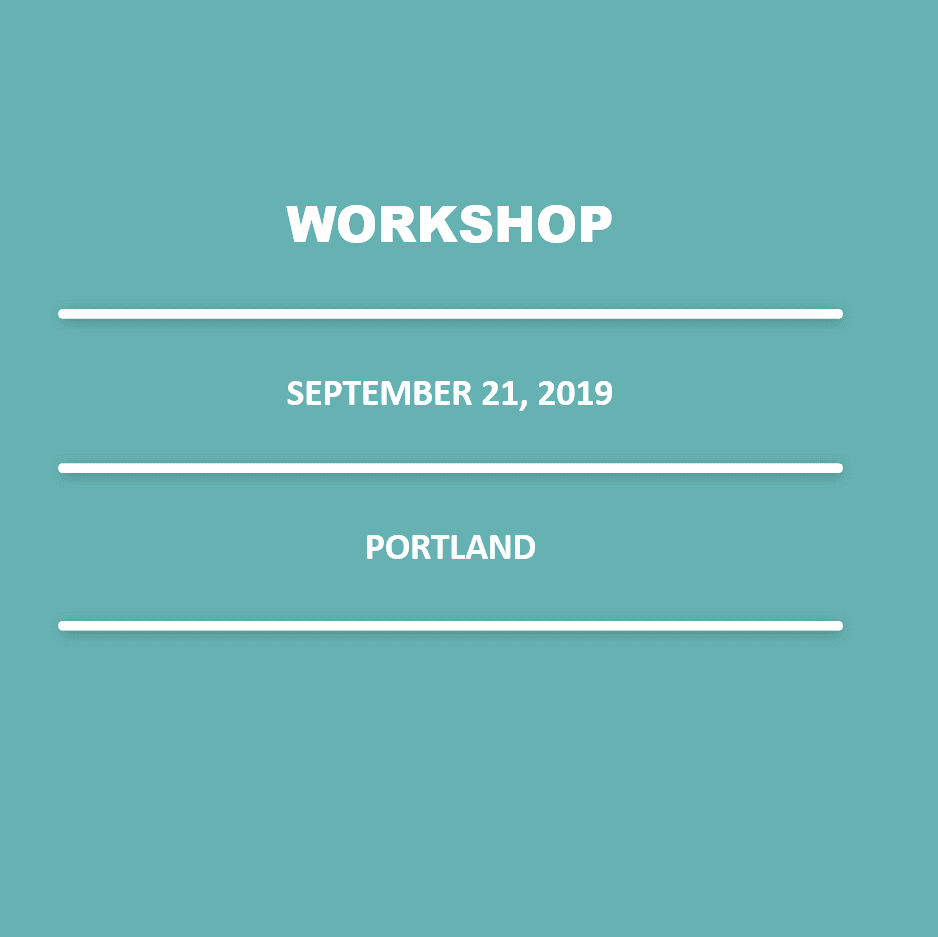 September 21, 2019 – 9:00 am – 1:00 pm (SOLD OUT | Portland)